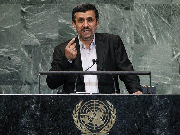 Íránský prezident Mahmud Ahmadínežád v OSN