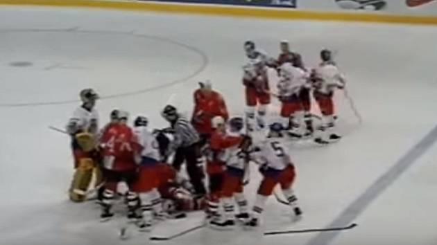 Bitka českého týmu s Kanadou na MS 1997.