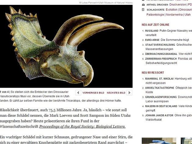 Býložravec, který měl téměř pět metrů na délku, dostal název Nasutoceratops titusi.