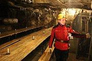Důl v německém Zinnwaldu: podzemní restaurace