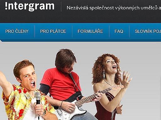 Webová stránky společnosti Integram