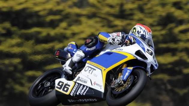 Jakub Smrž na své polotovární Ducati 1098R.