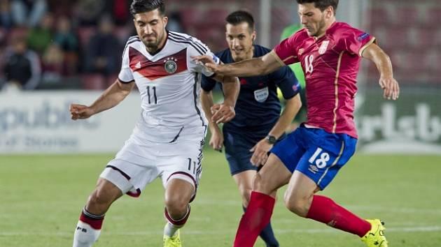 Miloš Jojič (vpravo) v zápase proti Německu
