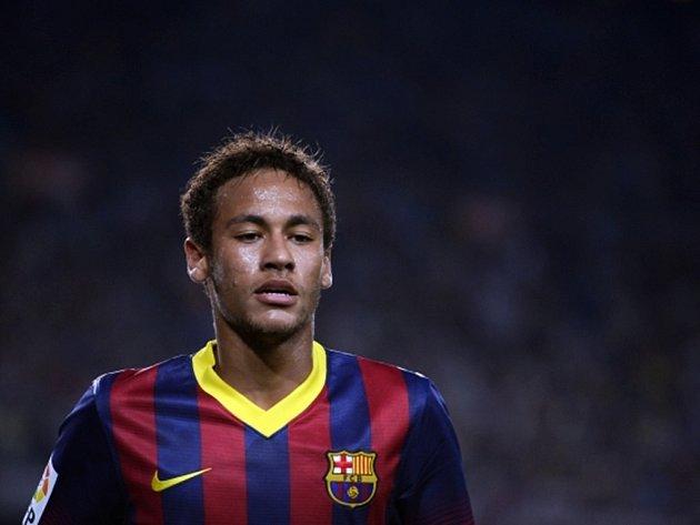 Brazilec Neymar v barcelonském dresu.