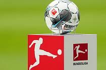Logo německé fotbalové bundesligy s míčem.