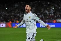 Sergio Ramos slaví svůj gól ve finále MS klubů