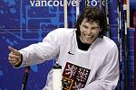 Jaromír Jágr se ve Vancouveru dobře baví.