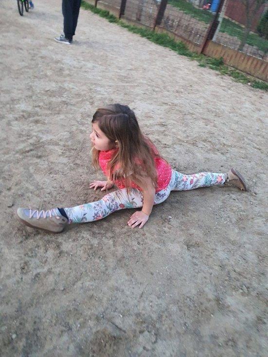 Děti ze ZŠ Polešovice se výzvy nebojí.