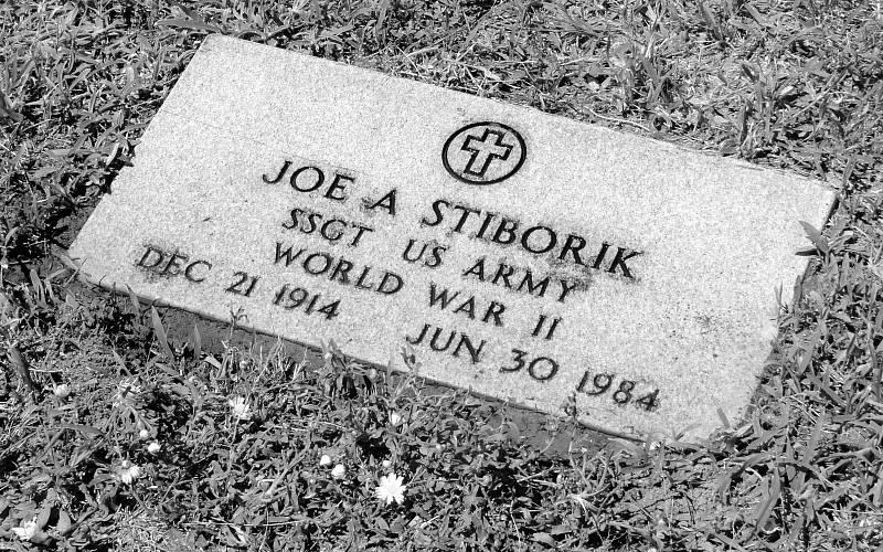 Náhrobek Josepha Stiborika v Rockdale