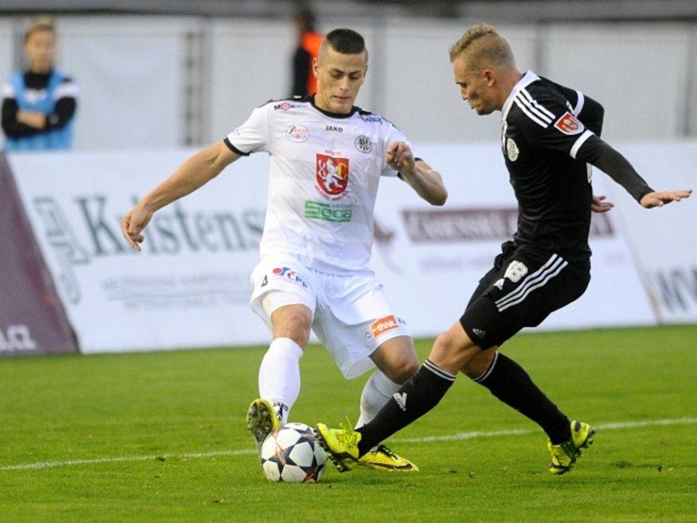 Tomáš Holeš z Hradce Králové (vlevo) a Jakub Hora z Českých Budějovic.