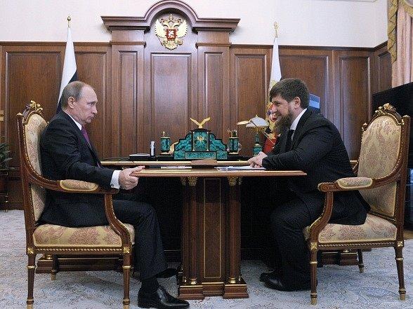 Vladimír Putin a Ramzan Kadyrov