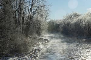 Mrazivé zimní počasí. Ilustrační snímek