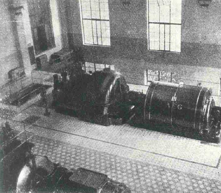 Elektrárna Poříčí - strojovna