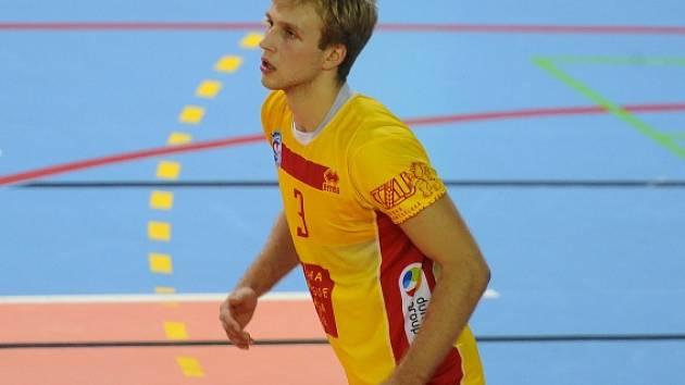 Volejbalista Martin Kop v dresu ČZU Praha.