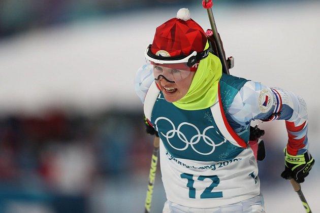 Veronika Vítková si v mrazivém počasí jeden v Pchjongčchangu pro olympijský bronz.