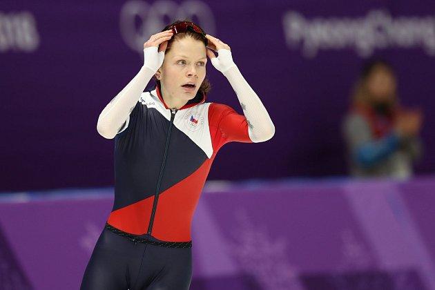 Nikola Zdráhalová na trati 1500 m.