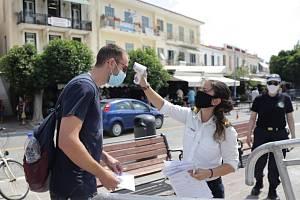 Měření teploty v Řecku. Ilustrační snímek
