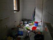 Restaurace Beseda v Pacově: mycí prostor po nájemci, firmě Trinner Innovations
