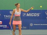 Karolína Plíšková na domácím turnaji okruhu WTA v Praze