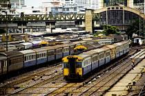 Železniční nádraží v Bangkoku. Ilustrační snímek