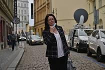 Miroslava Němcová ve volebním štábu ODS.