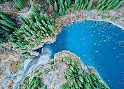 Jezero Caindy, Kazachstán
