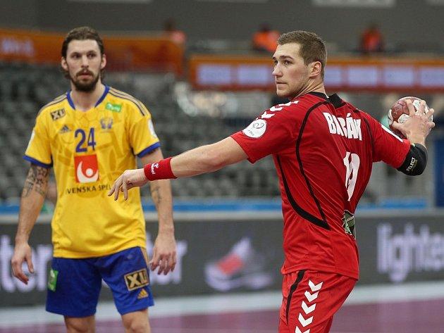 Tomáš Babák v zápase proti Švédsku