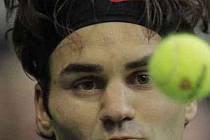Roger Federer na turnaji v Rotterdamu.