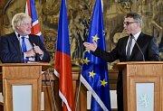 Boris Johnson a Lubomír Zaorálek