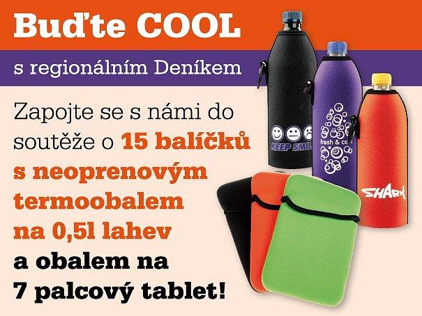 Zapojte se s námi do soutěže a 15 výherců mají šanci získat balíček s neoprenovým termoobalem na 0,5l lahev a obalem na 7 palcový tablet!