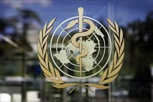 Znak World Health Organization (WHO), logo Světové zdravotnické organizace. Ilustrační foto