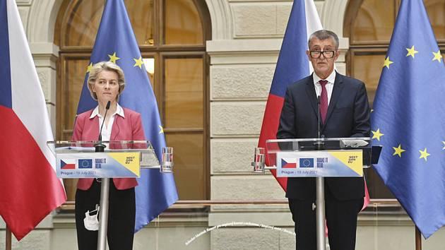 Ursula von der Leyenová a Andrej Babiš