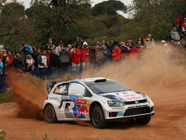 Sebastien Ogier na Portugalské rallye.