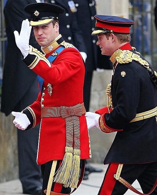 Princ William a jeho bratr princ Harry.