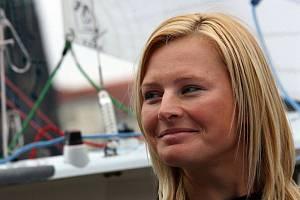 Lenka Šmídová na snímku z doby, kdy vyměnila cestování po světových oceánech za mateřské povinnosti.