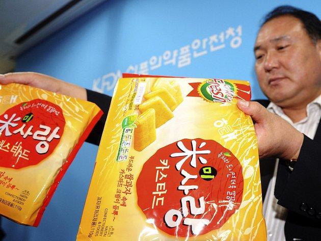 Korejský Úřad pro kontrolu léčiv a potravin objevil melamin i v těchto sušenkách.