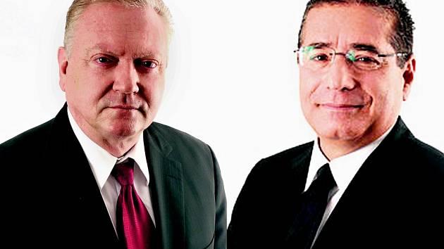 Panamští právníci Jürgen Mossack (vlevo) a Ramón Fonseca (vpravo)