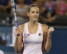 Karolína Plíšková na turnaji v Brisbane, který vyhrála.
