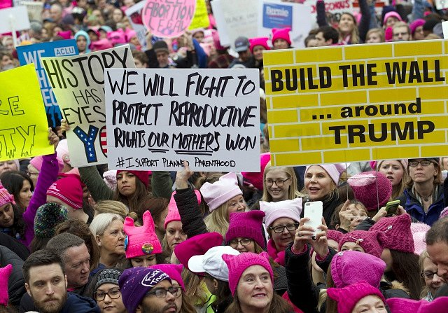 Manifestace za práva žen ve Washingtonu.