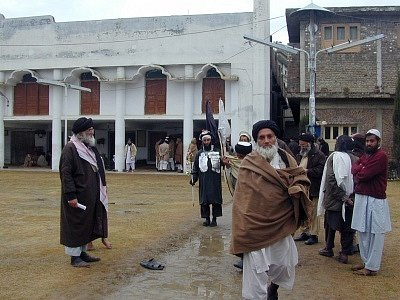 Stoupenci islámského práva šaría v údolí Svát.