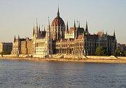 Sídlo parlamentu v Budapešti.