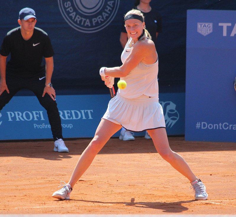 Petra Kvitová na turnaji v Praze.