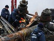 Trosky boeingu letu MH17 na východě Ukrajiny.
