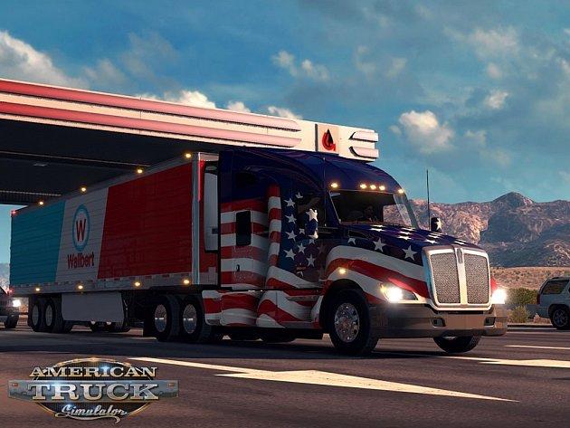 Počítačová hra American Truck Simulator.