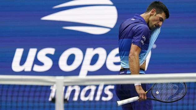 Srbský tenista Novak Djokovič ve finále US Open.
