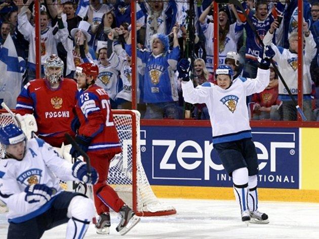 Finští hokejisté po skvělém výkonu zdolali Rusko.