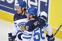 Takhle vypadá hokejová radost na finský způsob.
