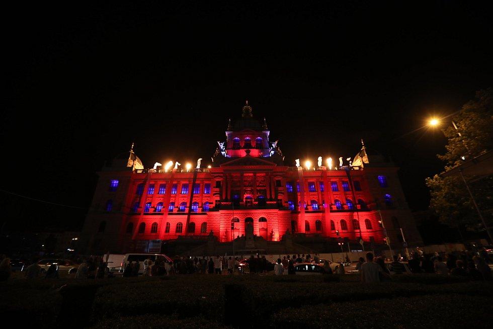 Koncert na Václavském náměstí u příležitosti výročí okupace.