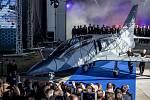 Nový letoun L-39NG, který Aero Vodochody představilo 12. října ve svém areálu v Odolené Vodě u Prahy. Stroj je nástupcem legendárního cvičného letounu L-39 Albatros. Sériová výroba začne v roce 2020.