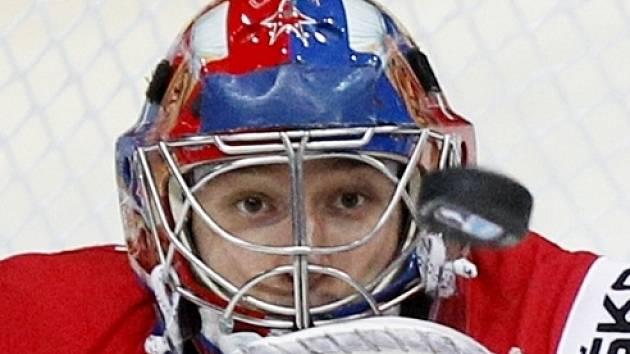 Hokejový gólman Jakub Štěpánek.